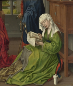 Full title: The Magdalen Reading Artist: Rogier van der Weyden Date made: before 1438 Source: http://www.nationalgalleryimages.co.uk/ Contact: picture.library@nationalgallery.co.uk Copyright © The National Gallery, London